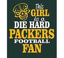 This Girl Is A Die Hard Packers Football Fan. Photographic Print