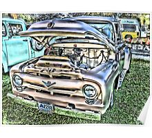Ford '56 F100 Pickup - Cherry Condition Poster