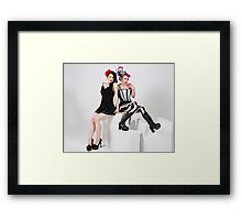 Dress up girls Framed Print