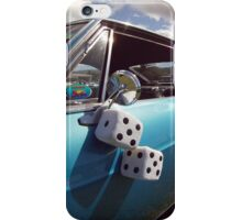 Double Dice 5x5 Classic Car fuzzy white iPhone Case/Skin