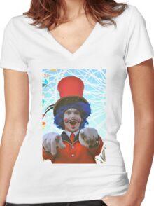 make sure you have fun!  luna park, sydney, australia Women's Fitted V-Neck T-Shirt