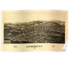 Panoramic Maps Cambridge NY 1886 Poster