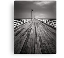 """Walking the Planks"" ∞ Shorncliffe, QLD - Australia Canvas Print"