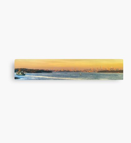 The Harbour Glows Canvas Print