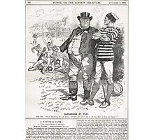 John Bull Brutal Rugby satire Punch 1888 Photographic Print