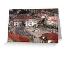A view inside  Lisbon (Lisboa) Portugal Greeting Card