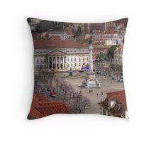 A view inside  Lisbon (Lisboa) Portugal Throw Pillow