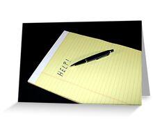 Notepad Pen Help Greeting Card