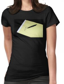 Notepad Pen Help Womens Fitted T-Shirt