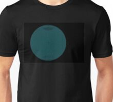 Wire Globe Full Blue Black Unisex T-Shirt