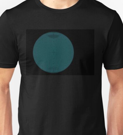 Wire Globe Full Blue Black Unisex T-Shirt