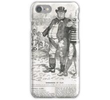 John Bull Brutal Rugby satire Punch 1888 iPhone Case/Skin