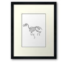 Running skeleton horse Framed Print