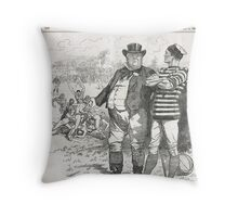 John Bull Brutal Rugby satire Punch 1888 Throw Pillow