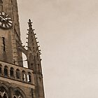 Tower clock of Bruges by Tony Jones