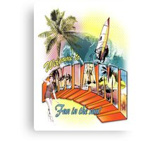 welcome to miami Canvas Print