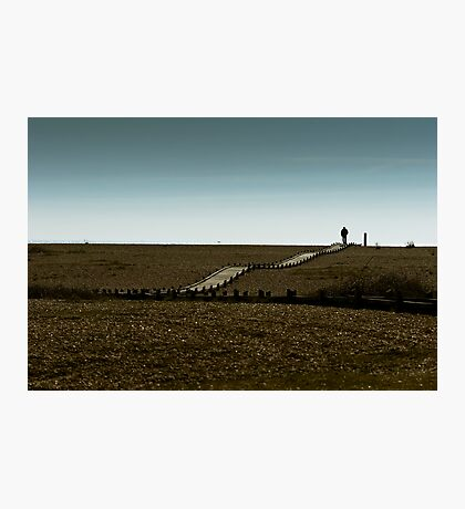 Lone walker Photographic Print