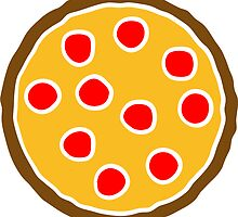 salami pizza round discs design by Style-O-Mat