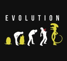 Evolution of Alien Baby Tee