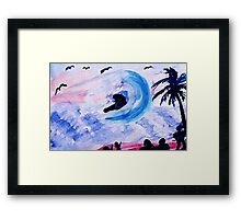 The Rogue Wave, watercolor Framed Print