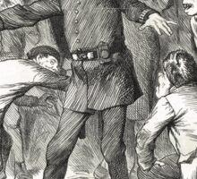 Jack the Ripper Punch Cartoon Blind Man's Buff 1888 Sticker