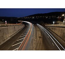 Light Trails.. Photographic Print