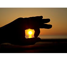 Holding The Sun.. Photographic Print