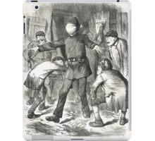 Jack the Ripper Punch Cartoon Blind Man's Buff 1888 iPad Case/Skin