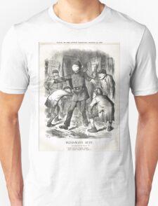 Jack the Ripper Punch Cartoon Blind Man's Buff 1888 Unisex T-Shirt
