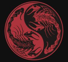 Red and Black Scorpions Yin Yang  Baby Tee