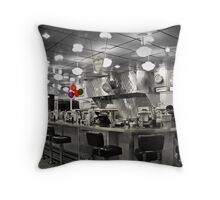 """The Diner"" Throw Pillow"
