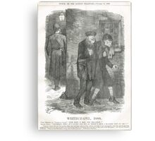 Jack the Ripper Punch Cartoon Whitechapel 1888 Metal Print