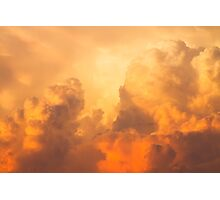 Colorful Orange Yellow Storm Clouds At Sunset Photographic Print