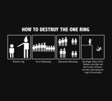 How To Destroy the One Ring (Light) by TeddyIchneumon