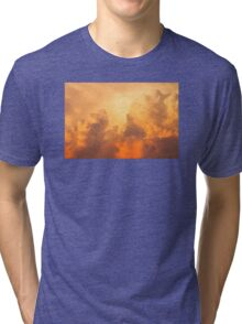 Colorful Orange Yellow Storm Clouds At Sunset Tri-blend T-Shirt
