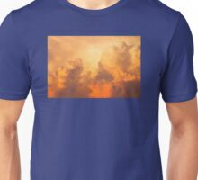 Colorful Orange Yellow Storm Clouds At Sunset Unisex T-Shirt