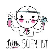 Little Scientist Photographic Print