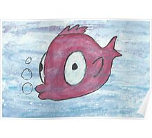 Little red fish Poster