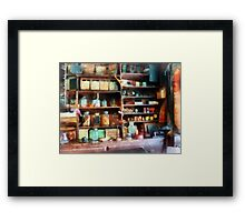 Behind the Counter at the General Store Framed Print