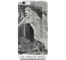Jack the Ripper Punch Cartoon Nemesis of Neglect 1888 iPhone Case/Skin