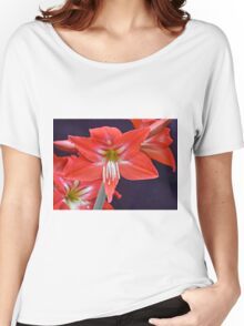 Red Amaryllis Flower Women's Relaxed Fit T-Shirt