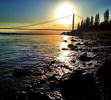 Humber Bridge Sunset by mariamariamaria