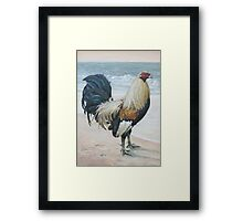 """Before The Fight"" (Rooster 2) Framed Print"