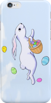 Easter Rabbit Run iPhone 4 Case by Mariana Musa
