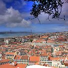 View over Lisbon from Saint George Castle by John44