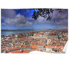 View over Lisbon from Saint George Castle Poster
