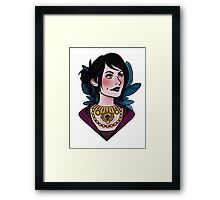 Morrigan - feathers (covered) Framed Print