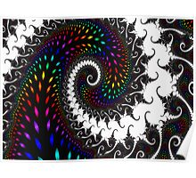 Spiraling Colorful Wave Poster