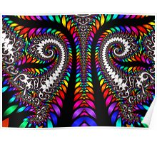 Spirals In Colors  Poster