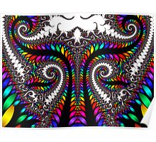 Spirals In Rainbow Colors  Poster